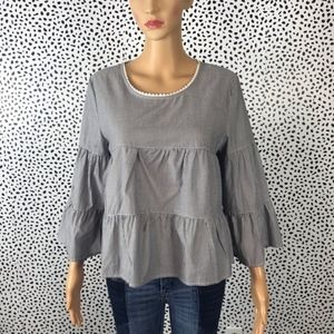 Anthro    E hanger M baby doll blouse size small